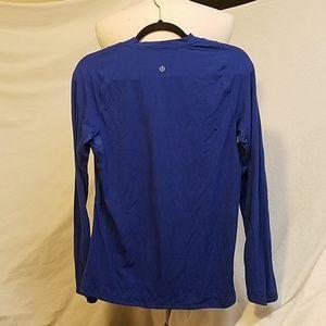 lululemon athletica Shirts - LULULEMON Blue Long Sleeve Shirt, Size Small